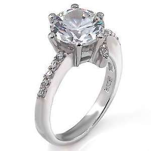 Dreamlike Sterling Silver Engagement Ring, Designed with High Quality