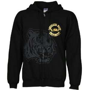 NCAA LSU Tigers Black Zippity Full Zip Hoody Sweatshirt