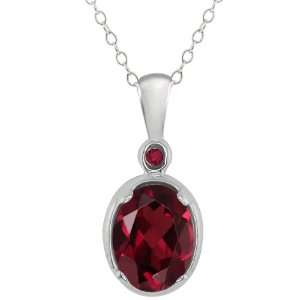 1.41 Ct Genuine Oval Red Rhodolite Garnet Gemstone
