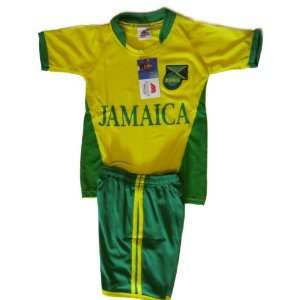 Jamaica Soccer Kids Set T shirt with Shorts Size 16