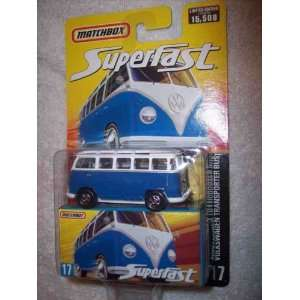 Superfast  #17 Volkswagen Transporter Bus 1 of 15,000 Collectible