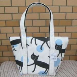 Japan Neko Mania Canvas 2 Ways Bag Blue New B29 Baby