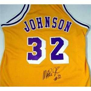 Magic Johnson autographed Basketball Jersey (Los Angeles