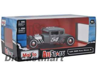 MAISTO 124 1929 FORD MODEL A NEW DIECAST MODEL MATT GREY #54