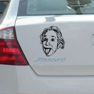 ALBERT EINSTEIN STICK CAR WINDOW VINYL DECALS STICKERS