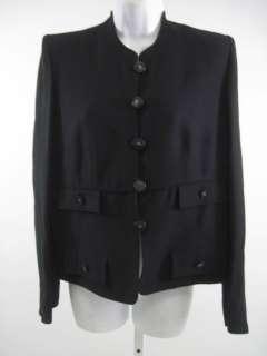 SONIA RYKIEL Black Button Front Blazer Jacket Size 42