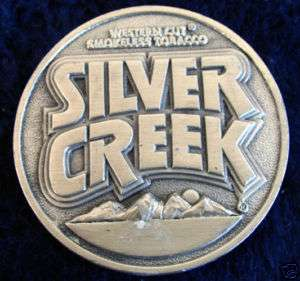 Vintage Silver Creek Tobacco Snuff Belt Buckle