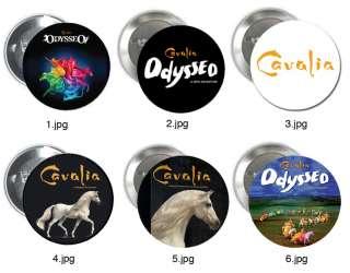 CAVALIA ODYSSEO pin button badge LOGO POSTER theatre horse show