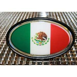 MEXICO MEXICAN FLAG TOW HITCH COVER WITH 3D DECAL