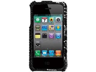 BLACK DIAMOND BLING HARD CASE COVER APPLE IPHONE 4 4G