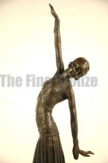 SIGNED D.H.Chiparus bronze art deco dancer sculpture