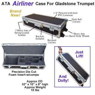 STANDARD TRUMPET ATA AIRLINER CASE w/WHEELS   NEW