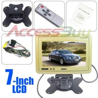 Beige 7 Inch In Car Headrest TFT LCD Monitor Dual Channel Video Input