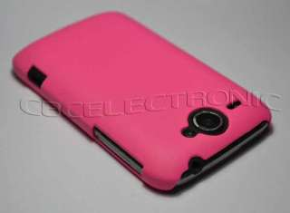 Pink Rubberized Hard case cover for HTC G8 wildfire