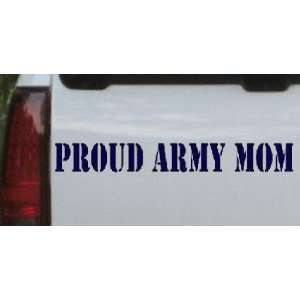 Navy 56in X 7.0in    Proud Army Mom Military Car Window Wall Laptop