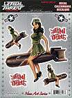 Lethal Threat Army Pin Up Girl Decal Sticker Size 5.29 x 5.36 Armed