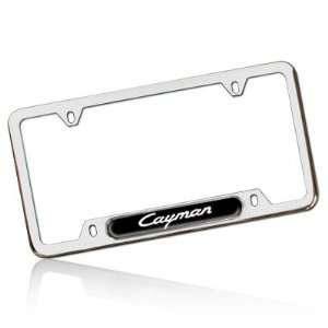 Porsche Cayman Polished Steel License Frame, Genuine Product