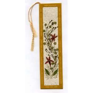 Bookmark   Handmade Bookmark with Silk Tassel   Pressed