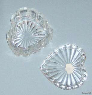 Zajecar 24% Lead Crystal Heart Shaped Trinket Box / Yug
