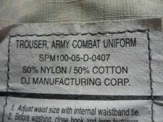 Military ACU Pants Camo Cargo Trousers Large Short Army Men Boys 337