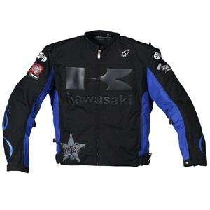 Joe Rocket Kawasaki Industry Jacket   5X Large/Black/Blue Automotive
