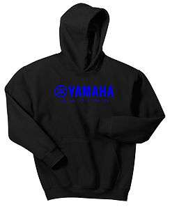 RACING HOODIE SWEAT SHIRT BLACK YZ YZF YFZ BLUE R1 R6 WR RHINO BANSHEE
