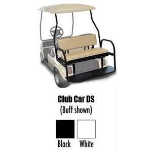 Golf Cart Rear Seat Club Car DS Black Cushions Sports
