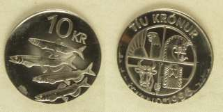 Error:Iceland 1996 10 Kronur Off Metal Struck On 5 Kr.Planchet Gem Bu