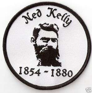 Ned Kelly.Aussie Bushranger Outlaw 3.5  .Biker Patch