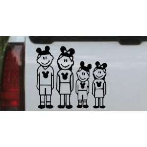 Black 26in X 23.4in    Mickey Mouse Disney 2 Kids Stick Family Stick