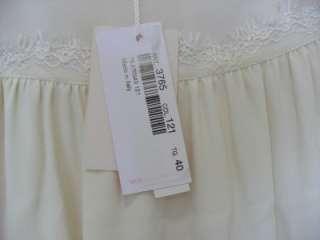 BLUMARINE White Silk Lace DRESS SZ40 NWT $1995