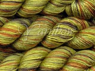 ArtYarns Regal Silk #131 Greens Black Brown Olive