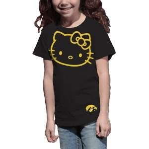 Hawkeyes Hello Kitty Inverse Girls Crew Tee Shirt