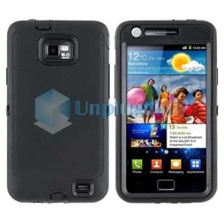 Black Hard Hybrid Black+Pink TPU Case+Privacy Guard For Samsung Galaxy