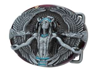 Native American Belt Buckle Medicine Man Indian