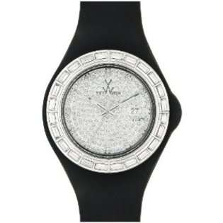 Toy ToyWatch Ladies Black Rubber Band Crystal Date Watch JTB08BK