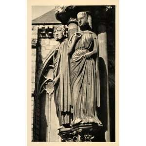 1937 King David Bathsheba Sculptures Chartres Cathedral