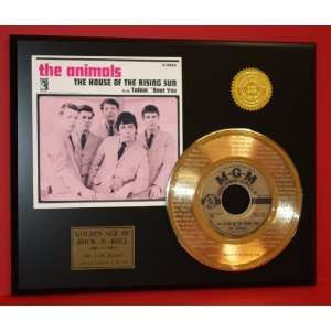 Animals Laser Etched 24kt Gold Record House of the Rising Sun