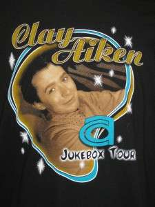 Mens CLAY AIKEN 2005 Music Concert Shirt Tee Shirts XL