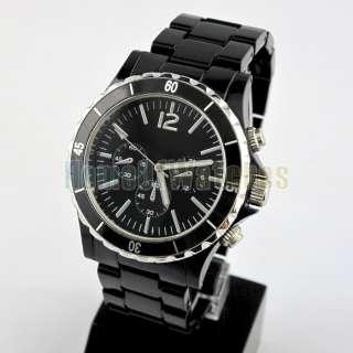 Men Ladies Fashion Young Style Plastic Black Dial Wrist Watch