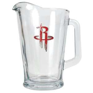 Houston Rockets NBA 60oz Glass Pitcher   Primary Logo