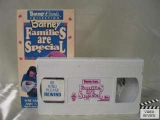 Barney   Families Are Special VHS Barney the Dinosaur