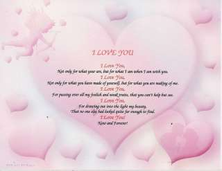 LOVE YOU FRIENDSHIP POEM PERSONALIZED NAME PRINT