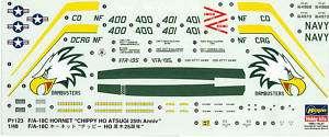 Hasegawa 1/48 F/A 18C Hornet decal sheet PT123