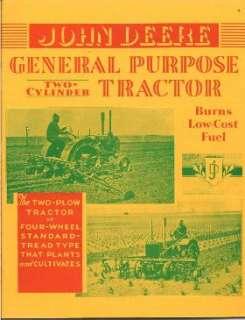 1931 JOHN DEERE TRACTOR CATALOG 2 cyl General Purpose