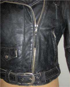 Harley Davidson Black Factory Distressed Heavy Leather Jacket with