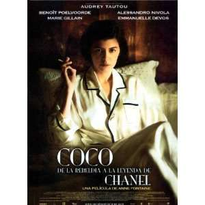 Coco Avant Chanel Poster Spanish 27x40 Audrey Tautou Beno?t Poelvoorde