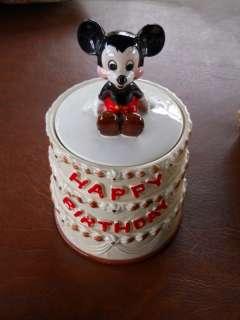 1978 Disney Mickey Mouse 50th Cookie Jar Birthday Cake