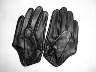 Size M Womens Winter Fashion Leather Gloves Black Soft