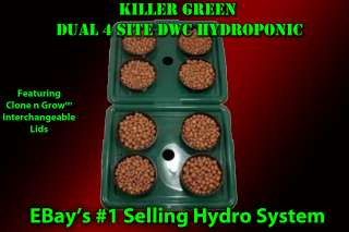 Dual Hydroponics 4 Plant Hydro System + Grow Guide